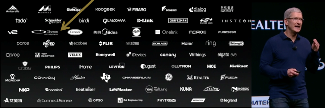 Tim Cook shows key partners of Apple for HomeKit